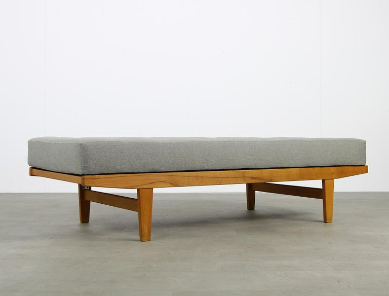 Mid-Century Modern Danish Modern 1960s Poul M. Volther Beechwood Daybed Mod. H9 by FDB Mobler, Sofa For Sale