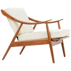 Danish Modern Afromosia Teak Lounge Chair