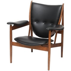 Danish Modern Armchair Chieftain Designed by Finn Juhl for Baker