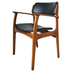 Danish Modern Armchair in Solid Oak by Erik Buch, 1950s
