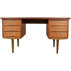 Mid-Century Danish Modern Arne Vodder Bow Tie Style Teak Desk
