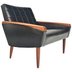 Danish Modern Atomic Teak Midcentury Lounge Chair