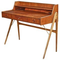 Danish Modern Atomic Teak + Oak Desk