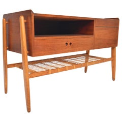 Danish Modern Atomic Teak and Oak Entry Chest
