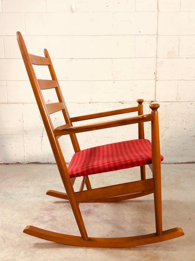 Scandinavian Modern Danish Modern Beechwood Rocking Chair by Niels Eilersen For Sale