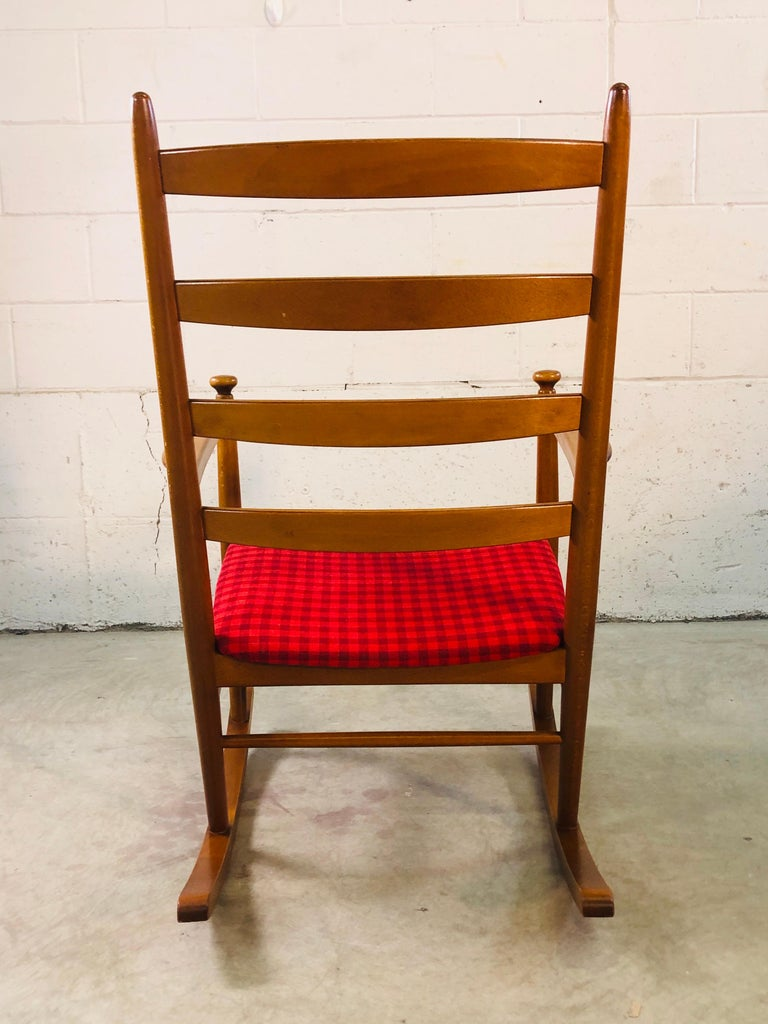 Danish Modern Beechwood Rocking Chair by Niels Eilersen In Good Condition For Sale In Amherst, NH