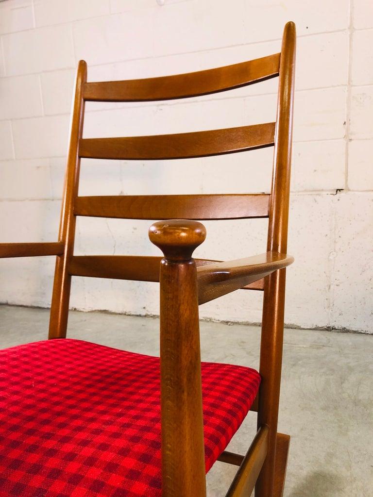 Danish Modern Beechwood Rocking Chair by Niels Eilersen For Sale 2