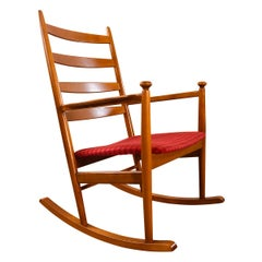 Danish Modern Beechwood Rocking Chair by Niels Eilersen