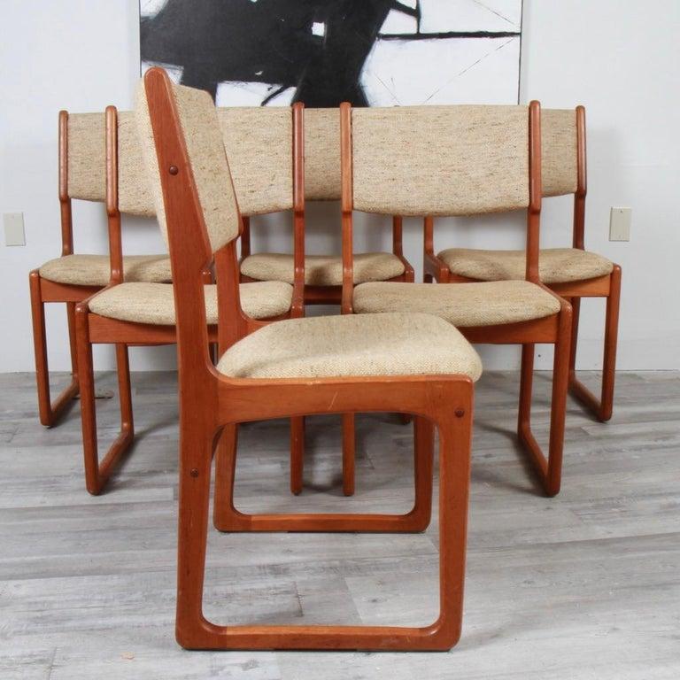 Mid-Century Modern Danish Modern Benny Linden Teak Dining Chairs For Sale