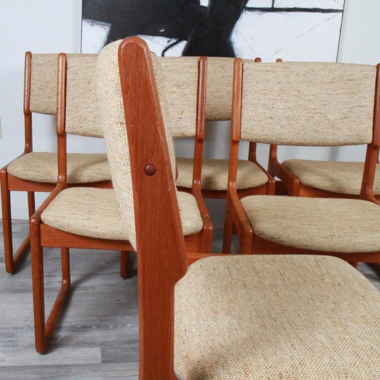 European Danish Modern Benny Linden Teak Dining Chairs For Sale