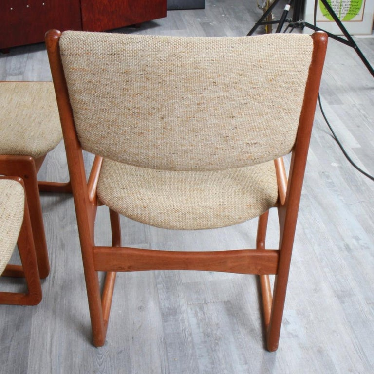 Danish Modern Benny Linden Teak Dining Chairs In Good Condition For Sale In New London, CT