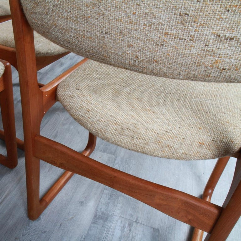 20th Century Danish Modern Benny Linden Teak Dining Chairs For Sale