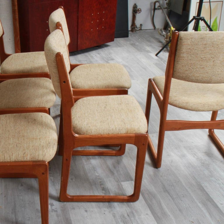 Danish Modern Benny Linden Teak Dining Chairs For Sale 1