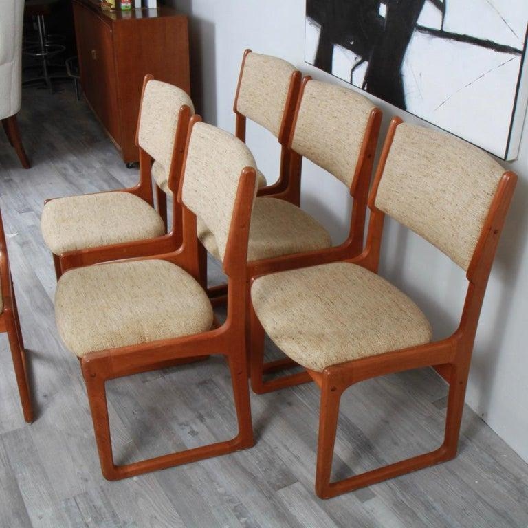 Danish Modern Benny Linden Teak Dining Chairs For Sale 2