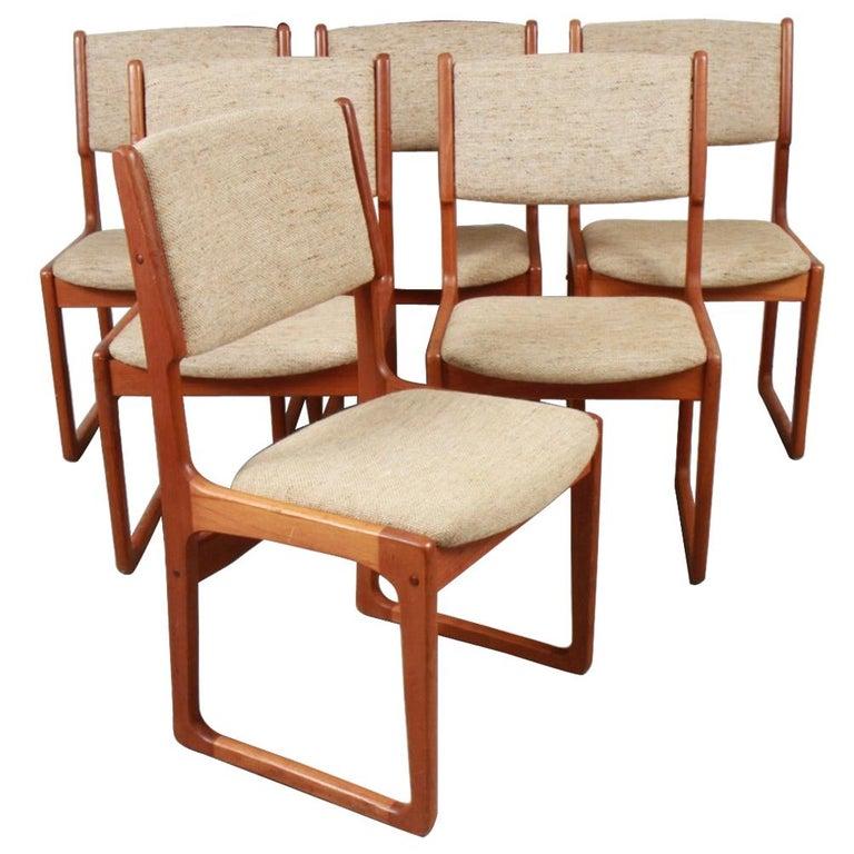 Danish Modern Benny Linden Teak Dining Chairs For Sale
