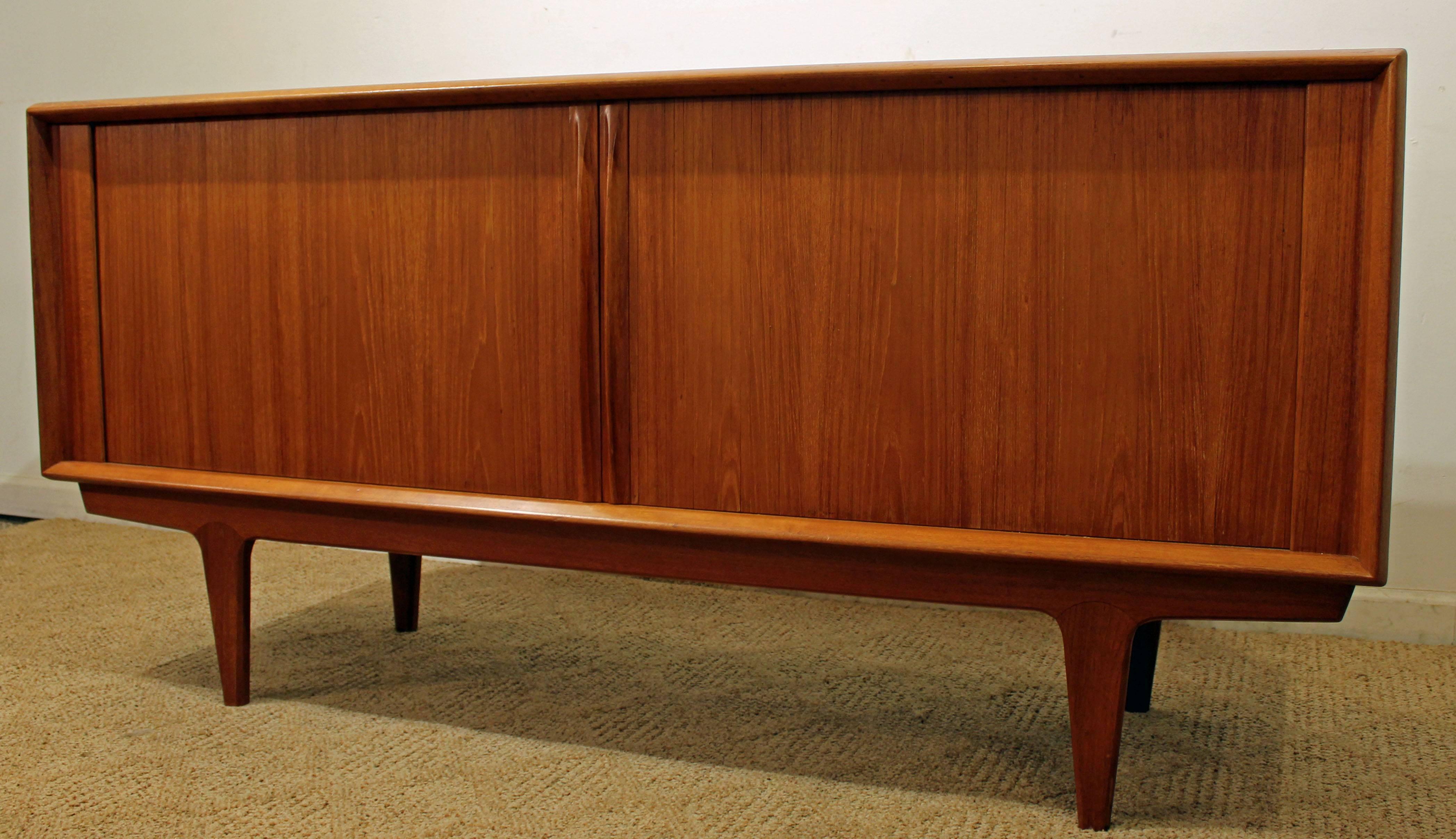 Danish Modern Credenza For Sale : Danish modern bernhard pedersen and son teak tambour door