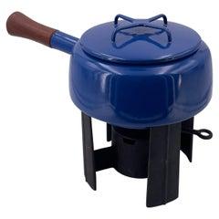 Danish Modern Blue Dansk Fondue Pot Designed by Quistgaard Early Production