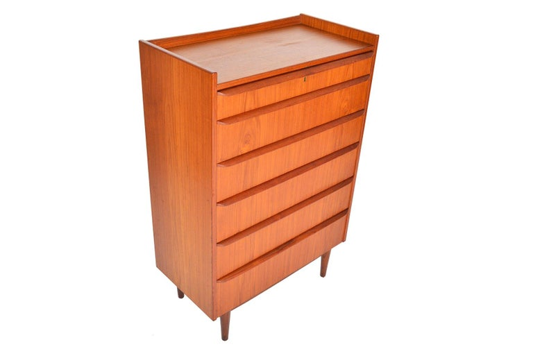 Scandinavian Modern Danish Modern Bookcase Top Teak Highboy Dresser