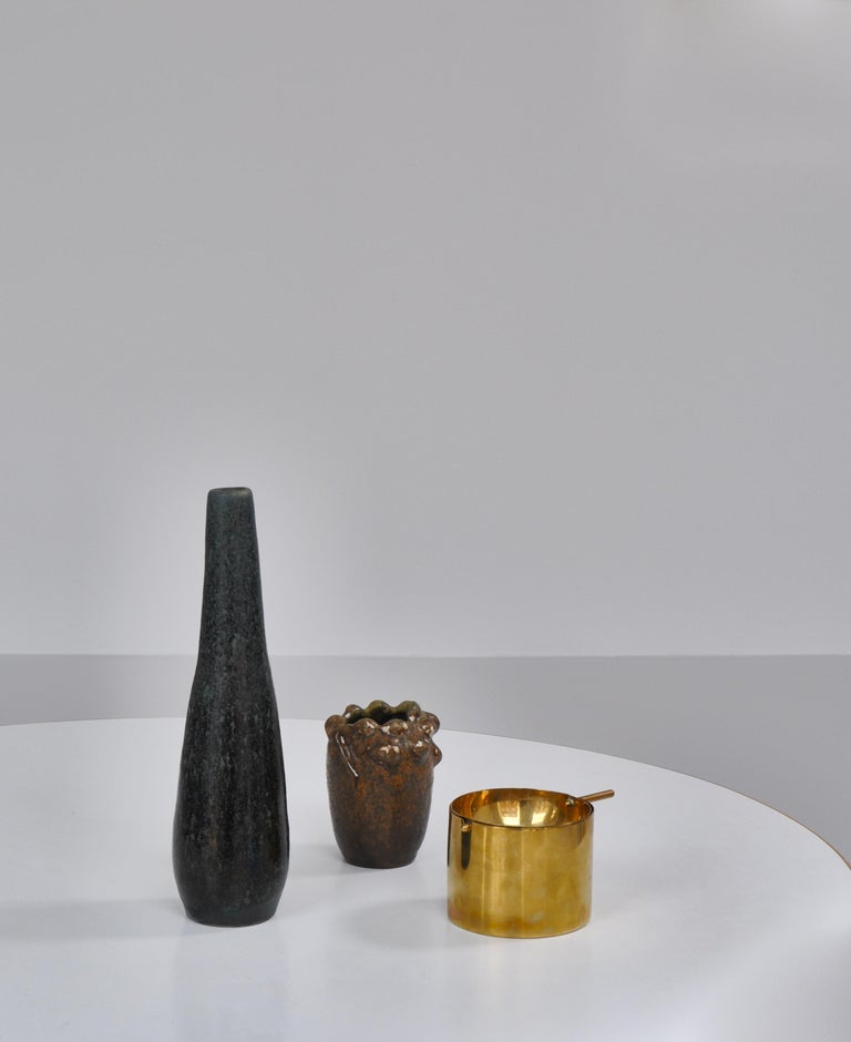 Beautiful collectors item made in very limited numbers by Stelton Brassware. The ashtray was designed by Arne Jacobsen in the late 1950s for the interior at the SAS Hotel. It was made in two sizes and this is the large version. The ashtray was later