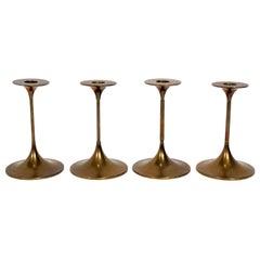 Danish Modern Brass Candlesticks by Max Bruel for Torben Orskov
