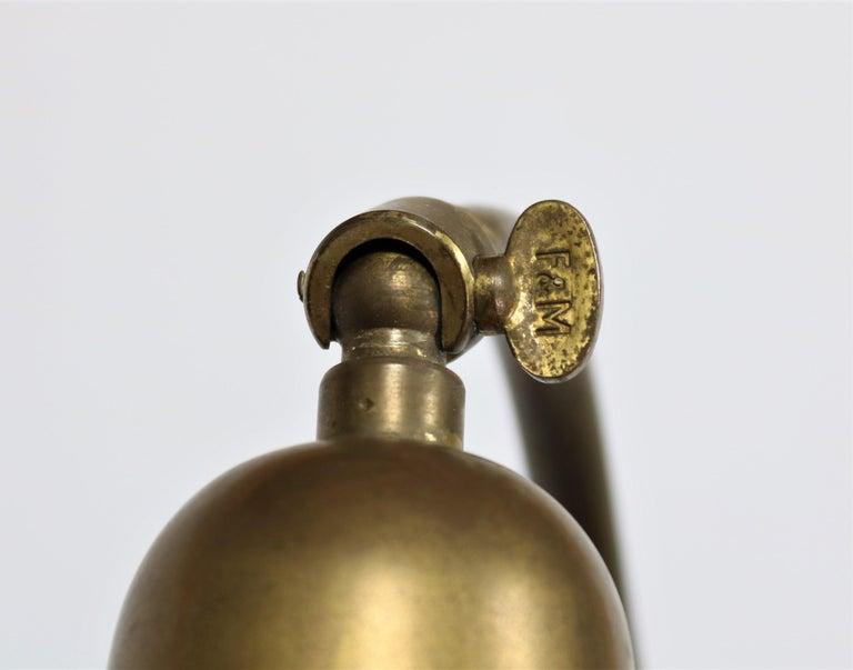 Danish Modern Brass Wall Lamp Made at Fog & Mørup Copenhagen, 1950s For Sale 4