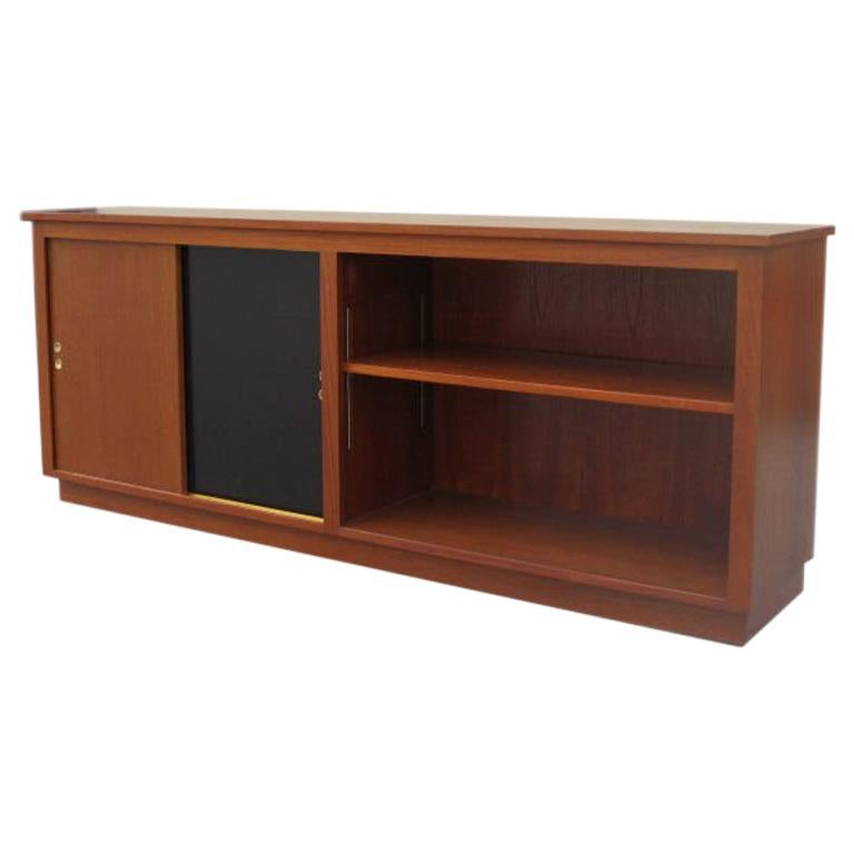Danish Modern Cabinet / Bookcase in Teak For Sale