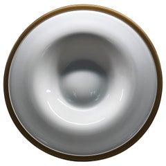 Danish Modern Cased Glass Center Piece Platter Michael Bang for Holmegaard 1960s