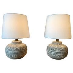Danish Modern Ceramic Lamps