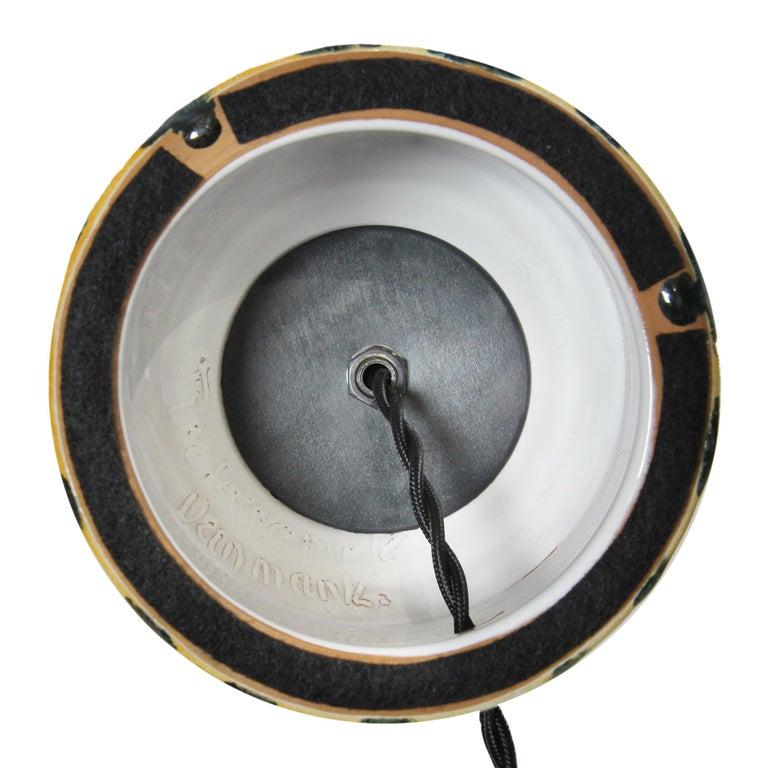 Brass Danish Modern Ceramic Table Lamp For Sale