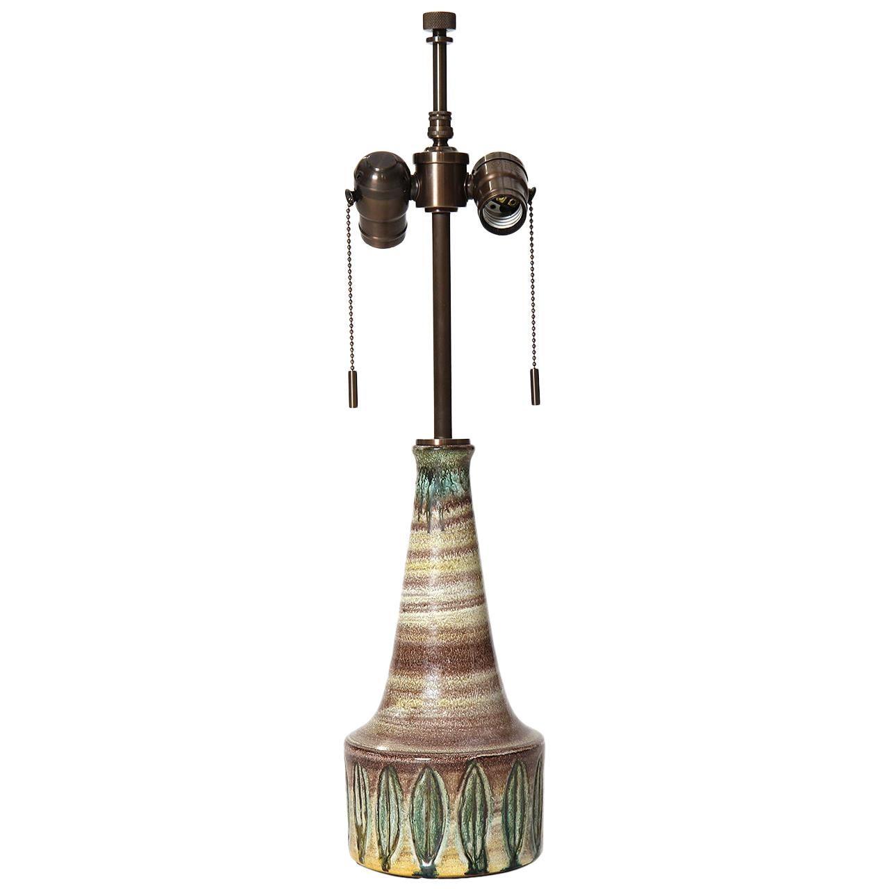 Danish Modern Ceramic Table Lamp