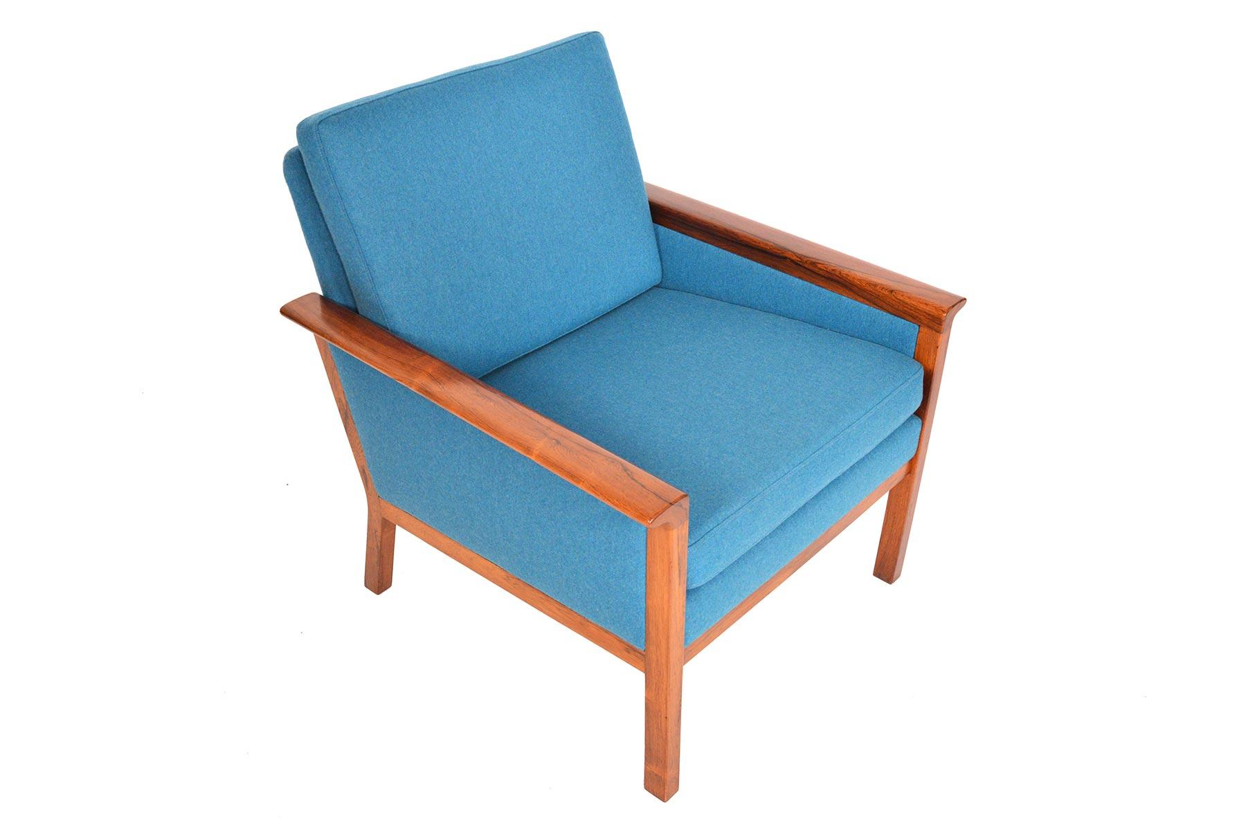 Peachy Danish Modern Cerulean Blue Lounge Chair In Brazilian Gmtry Best Dining Table And Chair Ideas Images Gmtryco