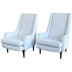 Danish Modern Club Chairs, a Pair