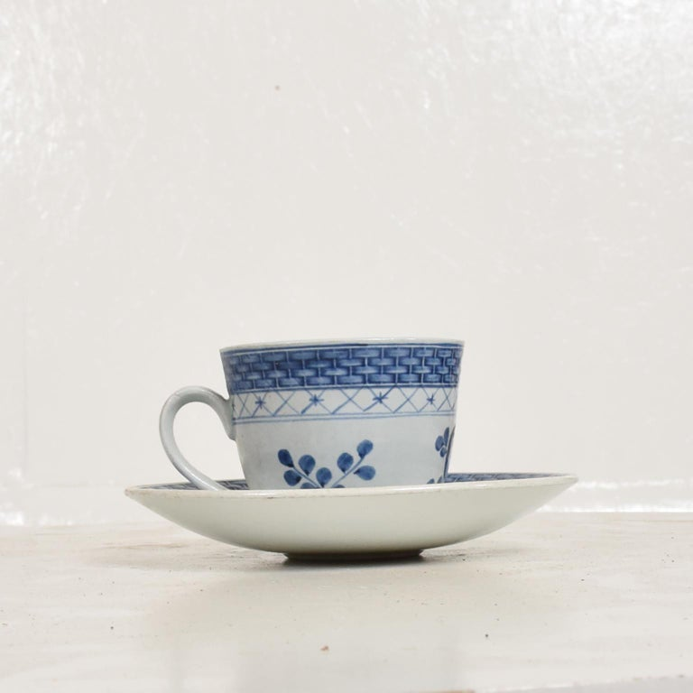 Porcelain Danish Modern Coffee Tea Cup and Plate Set for 12 Person Royal of Copenhagen Era For Sale
