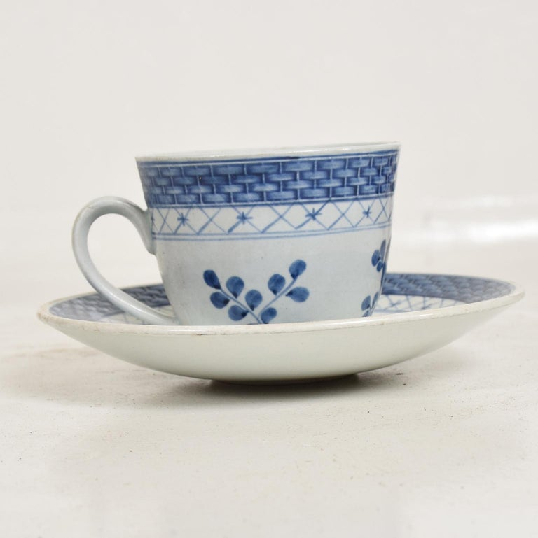 Danish Modern Coffee Tea Cup and Plate Set for 12 Person Royal of Copenhagen Era For Sale 2
