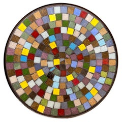 Danish Modern Colorful Mosaic Vide-Poche or Charger