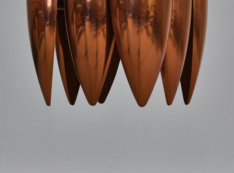 Danish Modern Copper Pendant by Jo Hammerborg for Fog & Mørup, 1960s For Sale 4