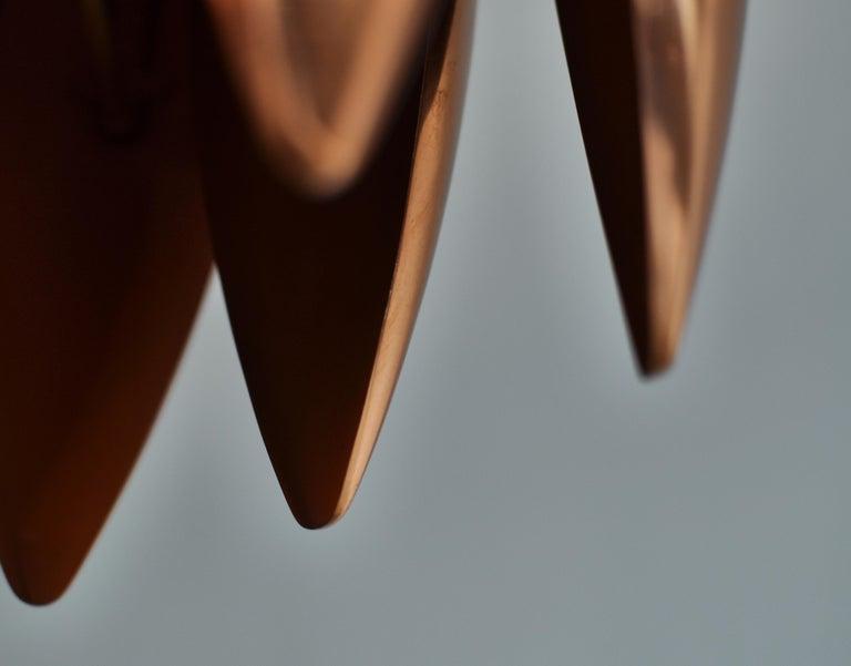 Danish Modern Copper Pendant by Jo Hammerborg for Fog & Mørup, 1960s For Sale 6