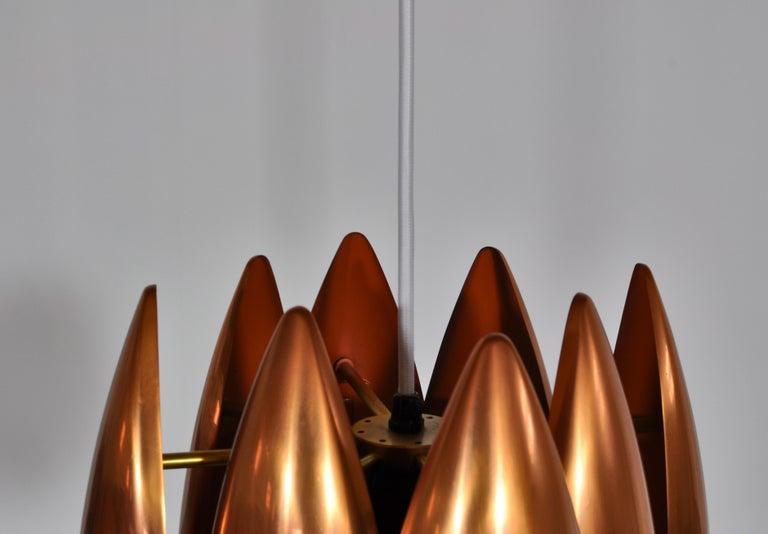 Danish Modern Copper Pendant by Jo Hammerborg for Fog & Mørup, 1960s For Sale 7