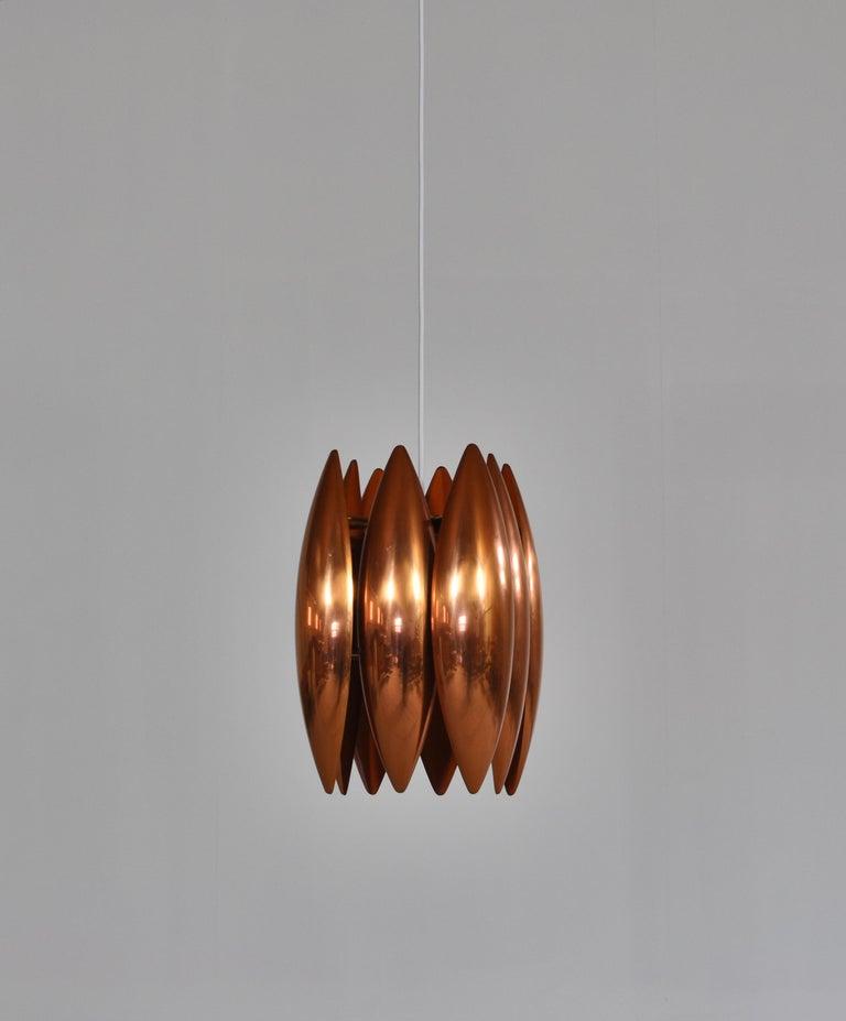 Scandinavian Modern Danish Modern Copper Pendant by Jo Hammerborg for Fog & Mørup, 1960s For Sale