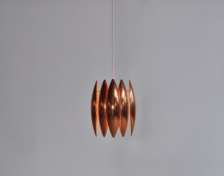 Danish Modern Copper Pendant by Jo Hammerborg for Fog & Mørup, 1960s For Sale 1