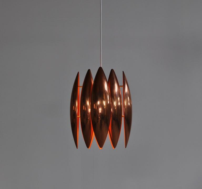 Danish Modern Copper Pendant by Jo Hammerborg for Fog & Mørup, 1960s For Sale 2