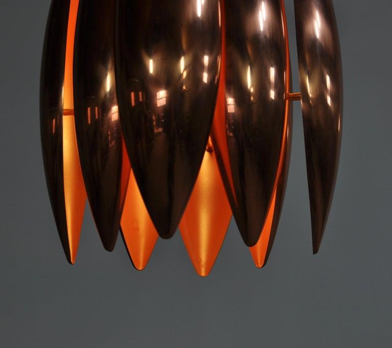 Danish Modern Copper Pendant by Jo Hammerborg for Fog & Mørup, 1960s For Sale 3