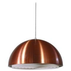 "Danish Modern Copper Pendant by Vilhelm Wohlert ""Louisiana"" Louis Poulsen, 1960s"