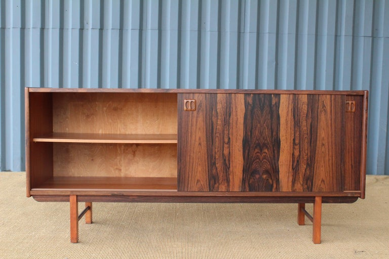 Danish Credenza Los Angeles : Danish modern credenza in brazilian rosewood 1960s for sale at 1stdibs