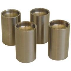 Danish Modern Cylinda Line Stainless Salt Pepper Shakers Arne Jacobsen Stelton