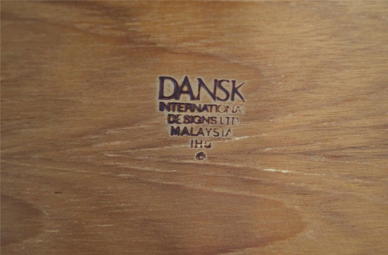 Malaysian Danish Modern Dansk Jens Quistgaard Teak Serving Server Tray For Sale