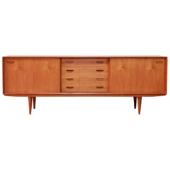 Danish Modern Design Sideboard Credenza from Clausen and Son in Teak, 1960s