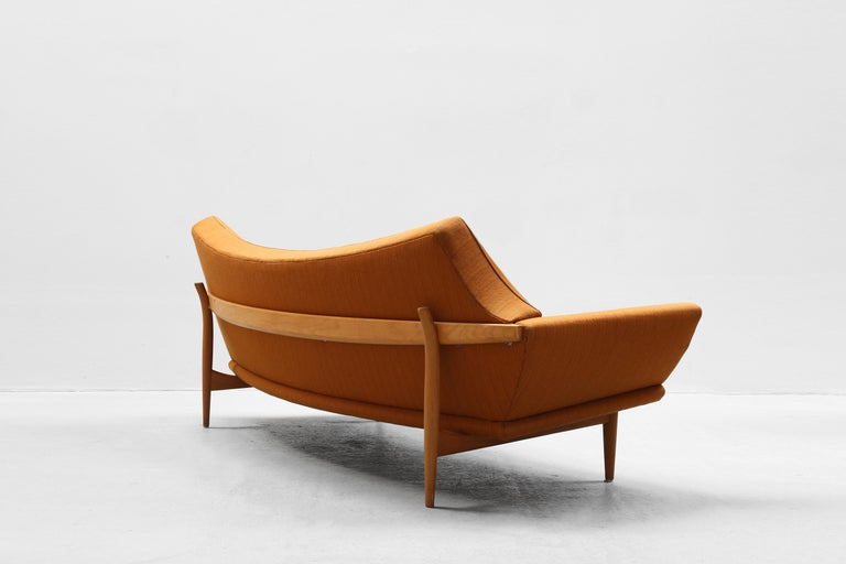 Oak Danish Modern Design Sofa by Johannes Andersen for Trensum, 1960s For Sale