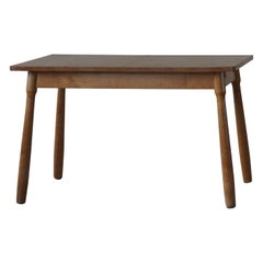 Danish Modern Desk / Dining Table in Birch Attributed to Philip Arctander, 1940s