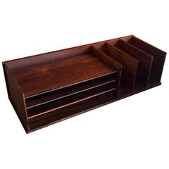 Danish Modern Desk Organizer / Letter Tray in Rosewood by Georg Petersens
